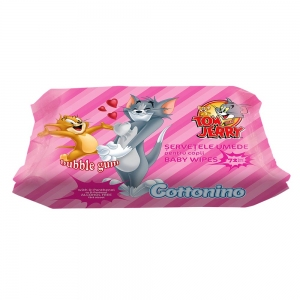COTTONINO WET WIPES TOM&JERRY BUBBLE GUM