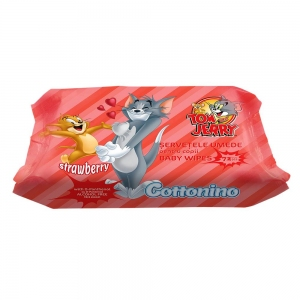 COTTONINO T&J WET WIPES STRAWBERRY