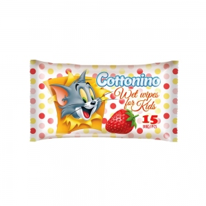 COTTONINO WET WIPES POCKET TOM&JERRY STRAWBERRY