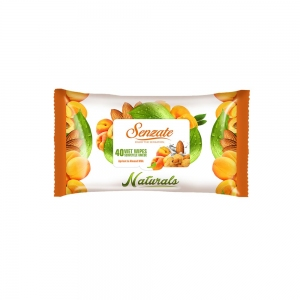 SENZATE WET WIPES NATURALS APRICOT AND ALMOND