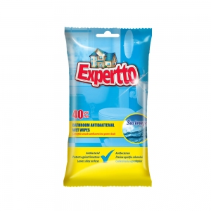 EXPERTTO ATIBACTERIAL WET WIPES BATHROOM