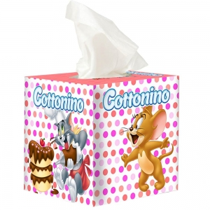 COTTONINO SERVIETTEN BOX T&J PINK