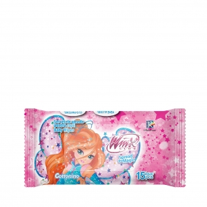 COTTONINO WET WIPES WINX PINK 15 pcs
