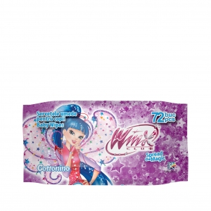 COTTONINO WET WIPES WINX PURPLE 72 pcs