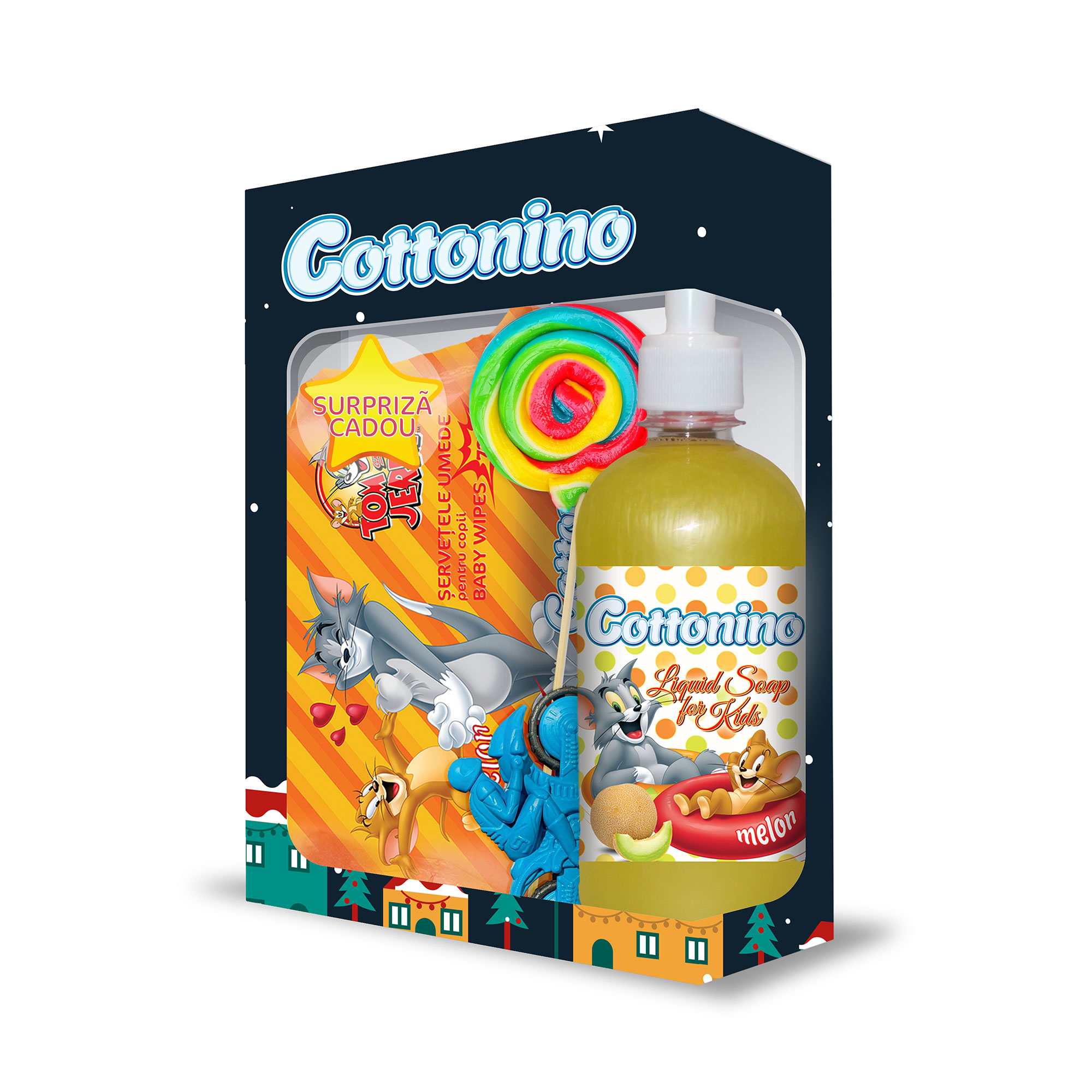 Cottonino Gift Box Tom & Jerry Melon