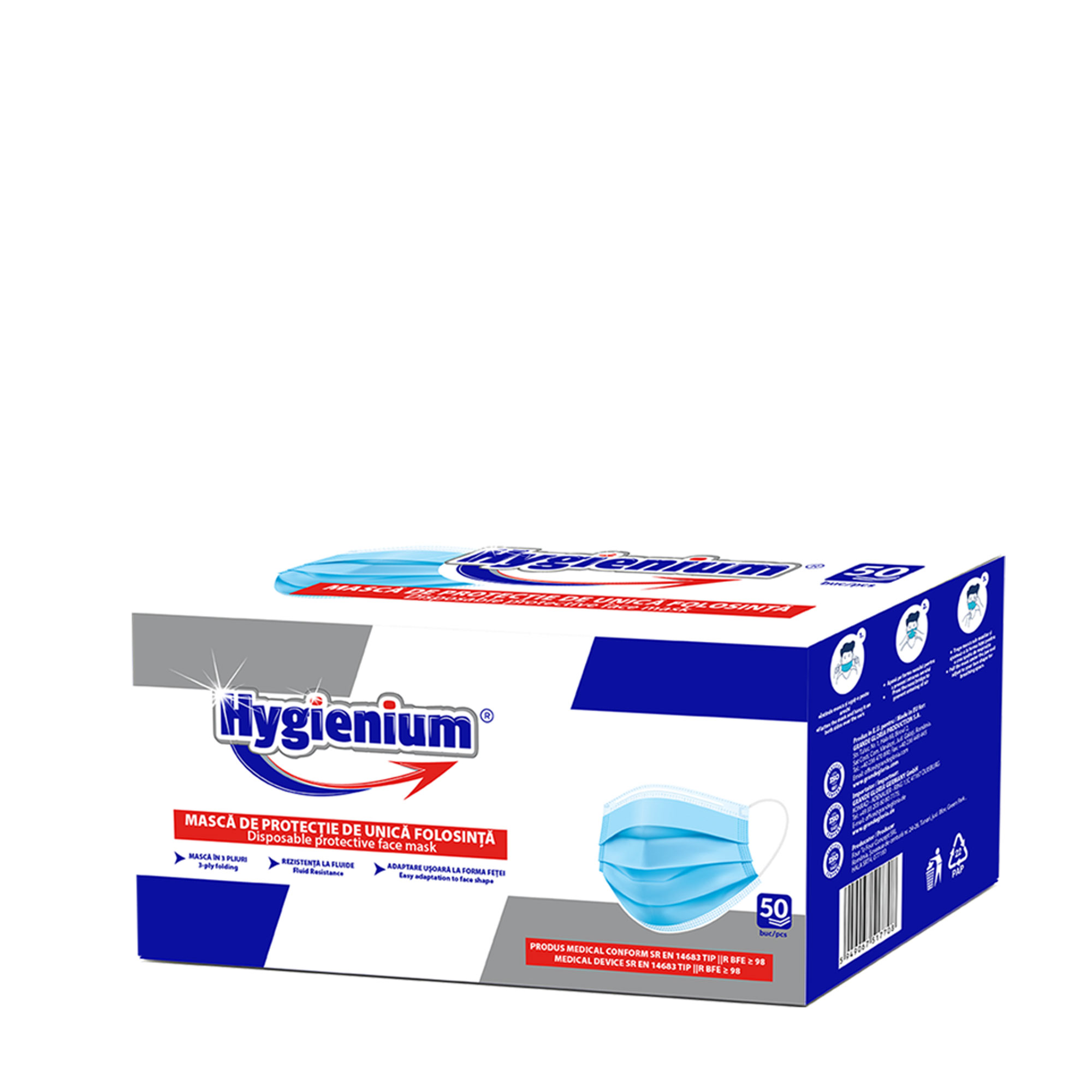 Hygienium Disposable Face Mask 50 pcs box