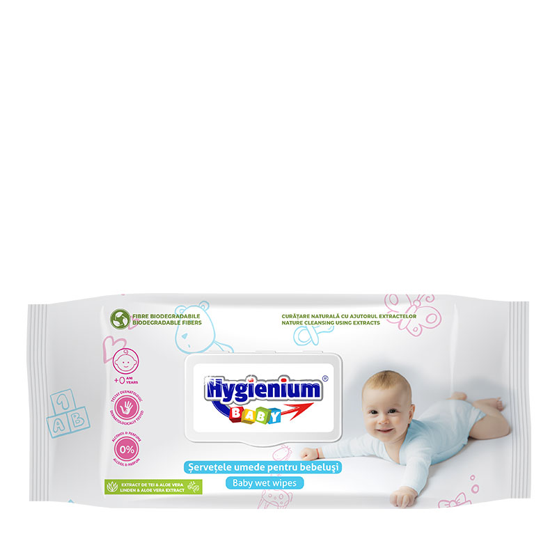 Hygienium BABY Wet Wipes with Linden and Aloe Vera extract