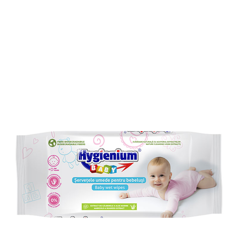 Hygienium BABY Wet Wipes with Marigold and Seaweed extract