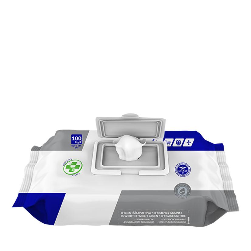 Hygienium Servetele Umede Dezinfectante, cu Capac de Plastic, 100 buc