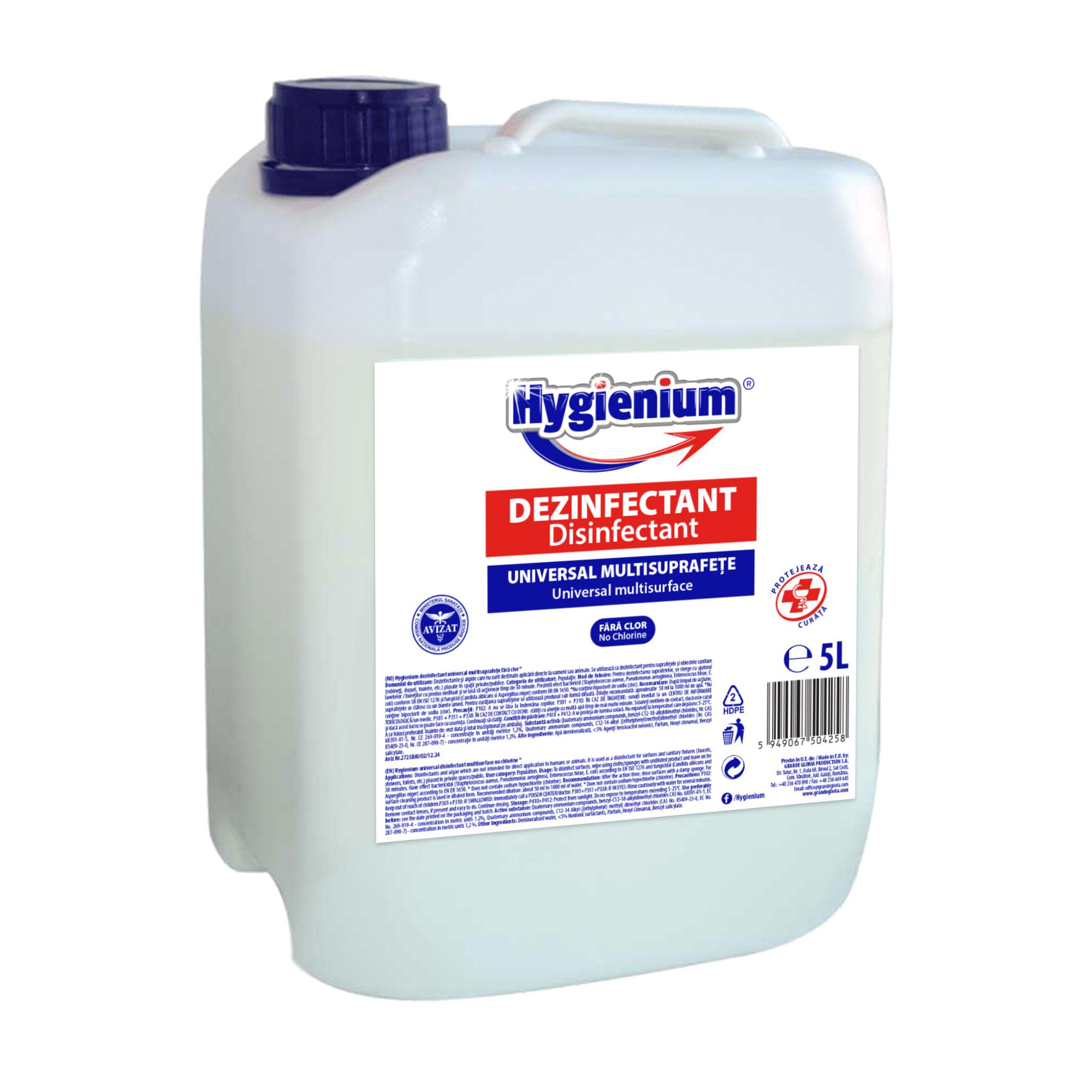 HYGIENIUM UNIVERSAL MULTISURFACE DISINFECTANT 5 l