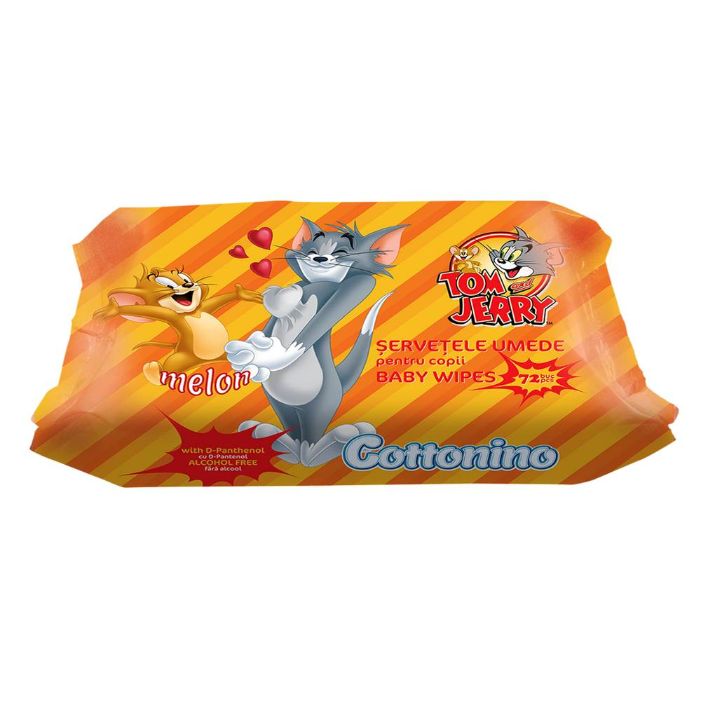COTTONINO T&J VOCHTIGE ZAKDOEKJES MELON