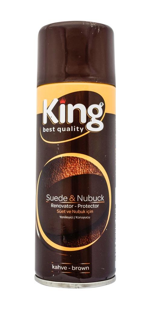 123 New King Suede & Nubuck Renovator Spray Polish 200ml