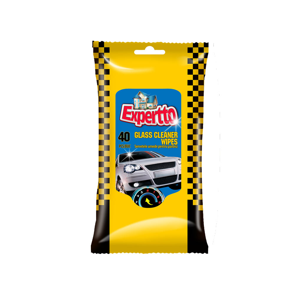 EXPERTTO CAR GLASS CLEANER WIPES